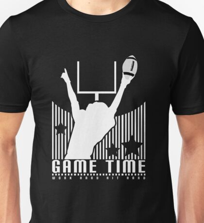 Game Time - Football (Black) Unisex T-Shirt
