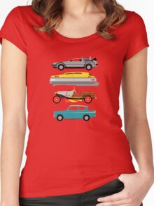 The Car's The Star: Flying Cars Women's Fitted Scoop T-Shirt
