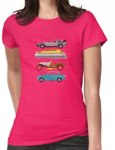 The Car's The Star: Flying Cars Womens Fitted T-Shirt