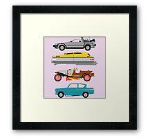 The Car's The Star: Flying Cars Framed Print