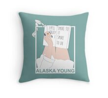 Alaska Young Throw Pillow