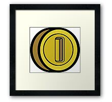 GAME COIN Framed Print