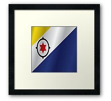 Bonaire flag Framed Print