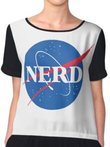 NERD - Nasa Logo Chiffon Top