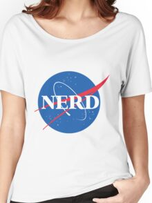 NERD - Nasa Logo Women's Relaxed Fit T-Shirt