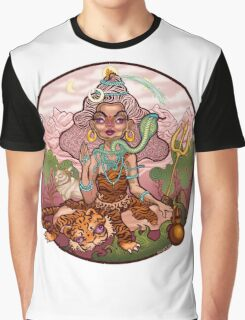 A Funky Female Shiva Graphic T-Shirt