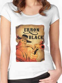 Wanted- Erron Black Women's Fitted Scoop T-Shirt