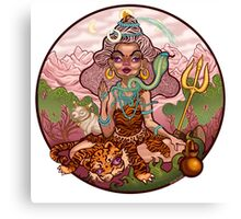 A Funky Female Shiva Canvas Print