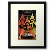 Beware the Triangle Framed Print