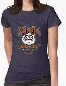 Panda University - Brown 2 Womens Fitted T-Shirt