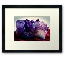 Amethyst Cluster Framed Print