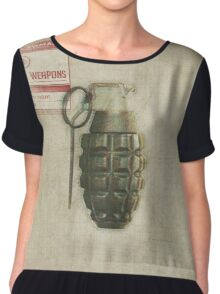 mCr number grenade Chiffon Top