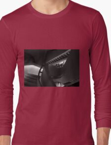 Abstract in Black Long Sleeve T-Shirt