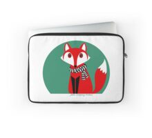 FOX IN BLACK AND WHITE SCARF Laptop Sleeve
