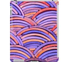 Red & Blue Curves iPad Case/Skin