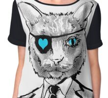 Dapper Cat Chiffon Top
