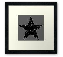 Black Star - faded Framed Print