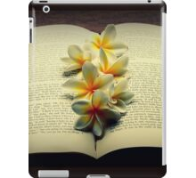 Frangipanis On A Book iPad Case/Skin