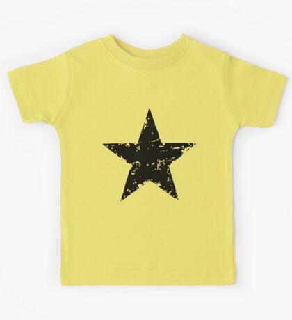 Black Star - faded Kids Tee