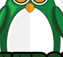 Penguin University - Green 2 Sticker