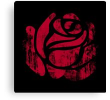 red rose stamp Canvas Print