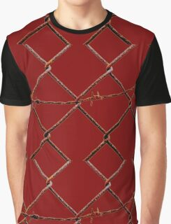 Chain Link & Barbed Wire Graphic T-Shirt