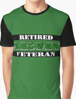 Retired Army Veteran Graphic T-Shirt