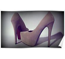 Suede platform heels 3 Poster