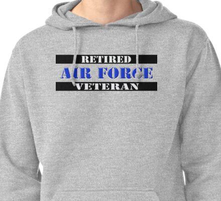 Retired Air Force Veteran Pullover Hoodie