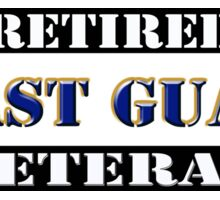 Retired Coast Guard Veteran Sticker