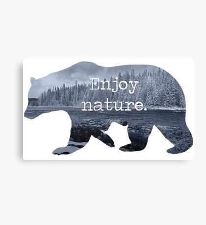 Enjoy nature.  Canvas Print