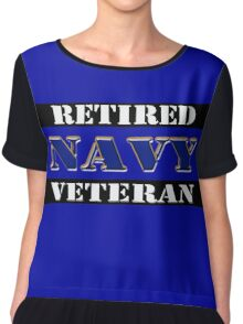 Retired Navy Veteran Chiffon Top