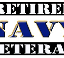 Retired Navy Veteran Sticker