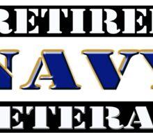 Retired Navy Veteran Sticker