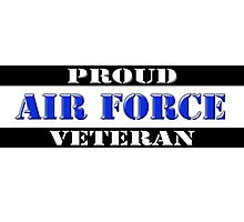 Proud Air Force Veteran Photographic Print