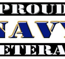 Proud Navy Veteran Sticker