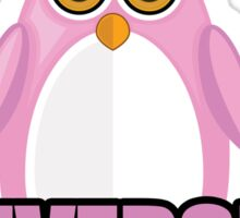 Penguin University - Pink 2 Sticker