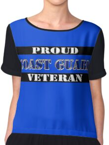 Proud Coast Guard Veteran Chiffon Top