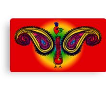 Tribal Paisley Peacock Canvas Print