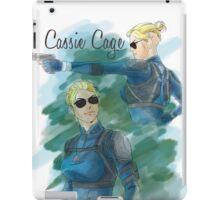 cassie cage -white bkg- iPad Case/Skin