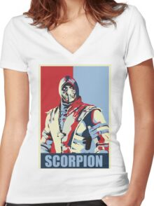 scorpion mkx hope Women's Fitted V-Neck T-Shirt