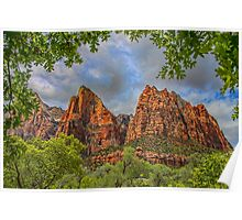 USA. Utah. Zion National Park. Patriarchs. Poster