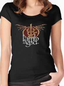 lamb of god Women's Fitted Scoop T-Shirt