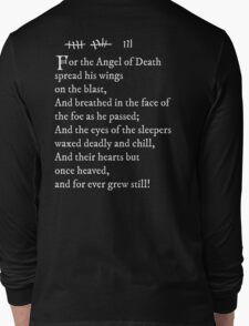 Archer - Pam's tattoo  (Lord Byron poem) - white text Long Sleeve T-Shirt