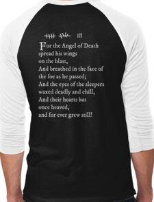 Archer - Pam's tattoo  (Lord Byron poem) - white text Men's Baseball ¾ T-Shirt