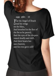 Archer - Pam's tattoo  (Lord Byron poem) - white text Women's Relaxed Fit T-Shirt