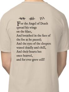Archer - Pam's tattoo (Lord Byron poem) - black text Classic T-Shirt