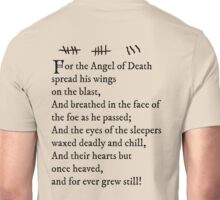 Archer - Pam's tattoo (Lord Byron poem) - black text Unisex T-Shirt