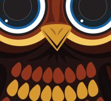 Friendly Owl - Grey Sticker