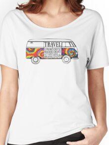 TIE DYE ADVENTURE BUS Women's Relaxed Fit T-Shirt
